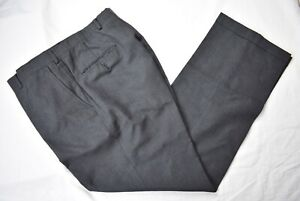 Austin Reed Dark Gray 100 Worsted Wool Dress Flat Front Trousers Size 35x31 Ebay