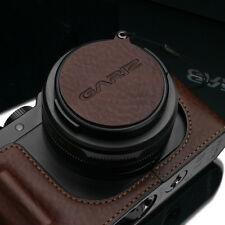 GARIZ Leather Lens Capfix Leica DLUX Lumix LX100 Cap XA-CFDLBR Brown