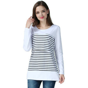 7317c1e0713 Image is loading Maternity-Clothes-Long-Sleeve-Breastfeeding-Tops-Women- Nursing-