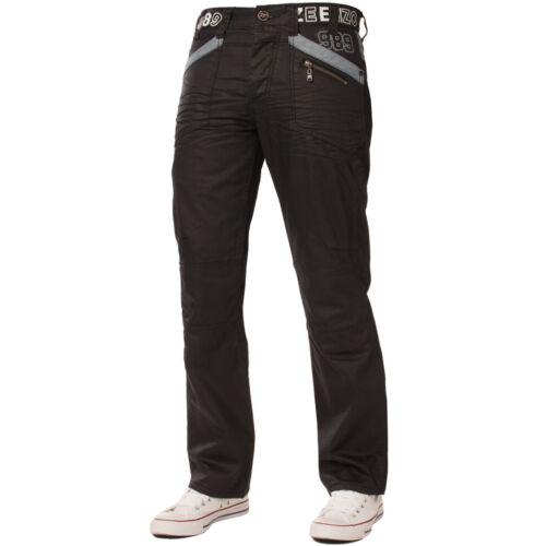 NUOVA linea uomo Enzo Jeans Nero Designer Denim Rivestito EZ112 CHEAP misura del girovita 28-48