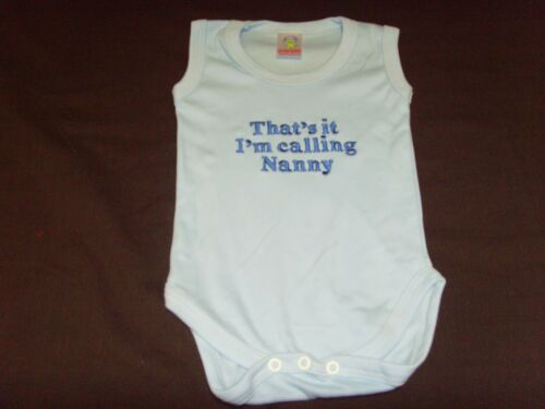 Funny Embroidered Personalised Vest Baby Shower Gift Thats it im calling nanny