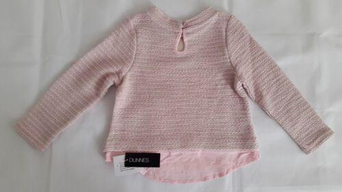 Dunnes Girls Pink Glitter Jumper 5 Yrs 22 in 56 cm