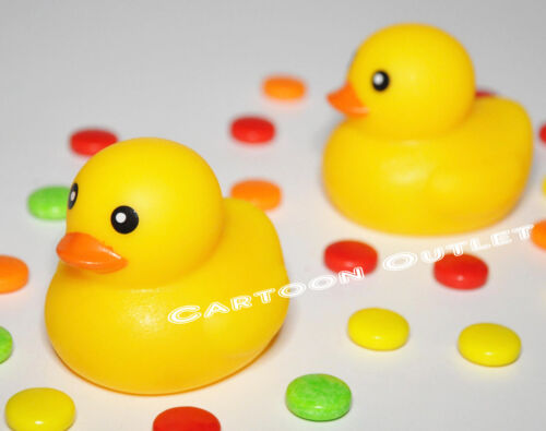 10 PCS BABY SHOWER RUBBER DUCKS YELLOW PARTY FAVORS GIFTS BABY DECORATION DECOR