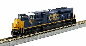 """Kato N Scale 176-8437 SD70ACe CSX /""""Dark Future/"""" Road #4850 DCC Ready New!"""