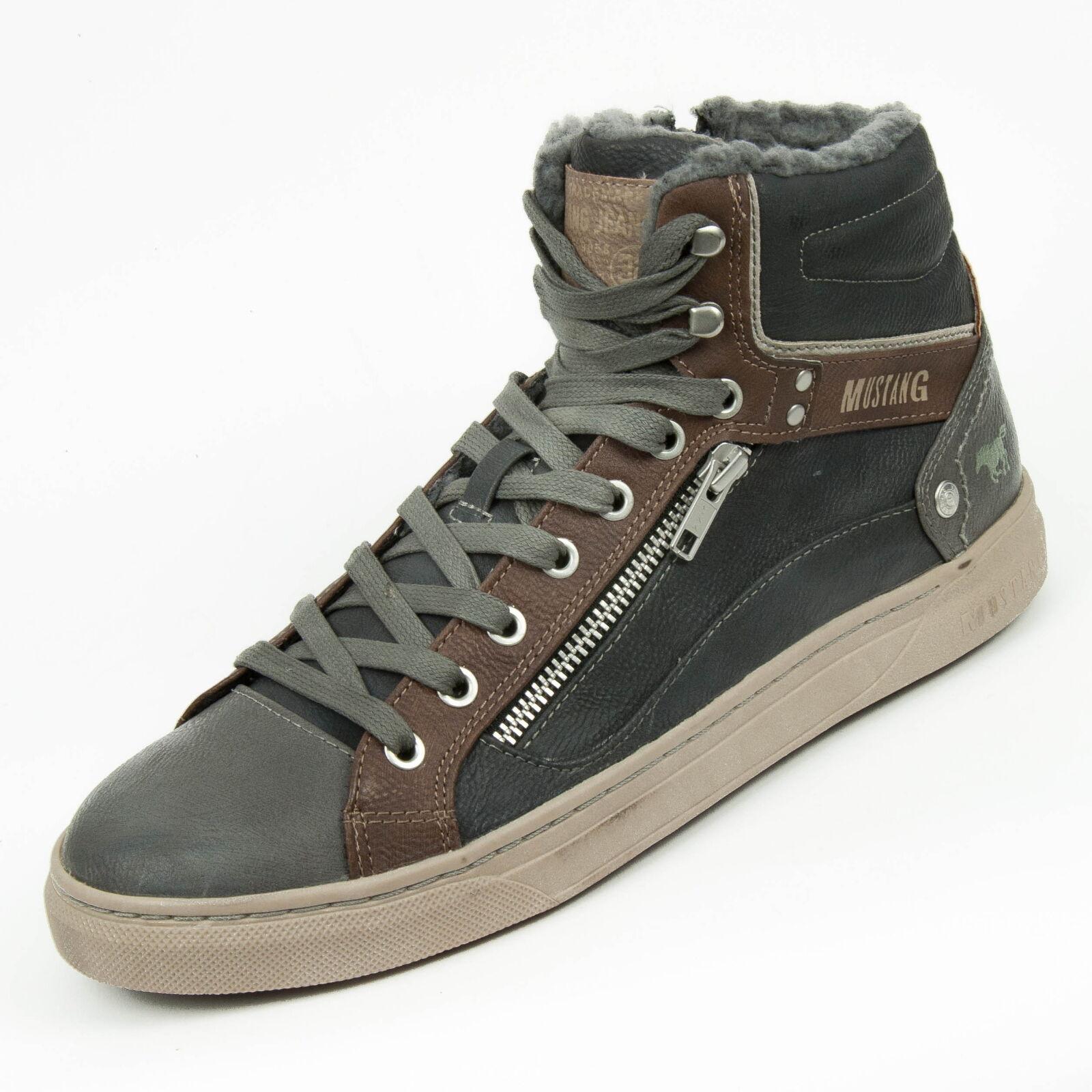 Mustang Scarpe Uomo High Sneaker Calda Fodera Grigio 4108-602-916 Scarpe classiche da uomo