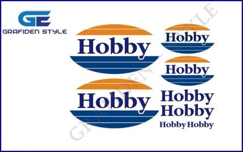 Sticker königsblau-blau-orange ! 8 Stück HOBBY Wohnwagen Aufkleber Decal