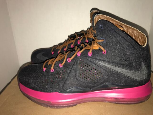 new concept c8f26 9d2dc Nike LeBron X Ext Denim QS Men s Size 11 DS 597806 400