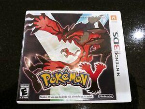 Pokemon Y (Nintendo 3DS, 2013) Complete w/ Case, Manual & Cartridge!