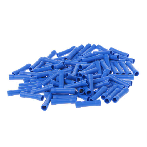 100 Pcs Electrical Straight Butt Connectors Terminal Crimp Cable Red//Blue//Yellow