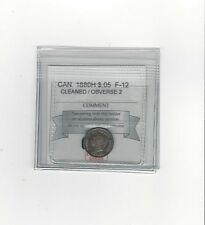 **1880H Obv #2**, Coin Mart Graded Canadian,  5 Cent, **F-12 Cleaned**