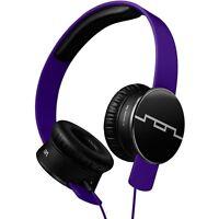Sol Republic V8 Hd Tracks Headphones Progressive Purple, 1-button Mic In Box