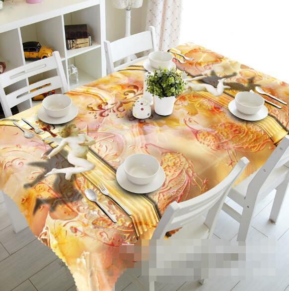3D Flying Angels Tablecloth Table Cover Cloth Birthday Party Event AJ WALLPAPER