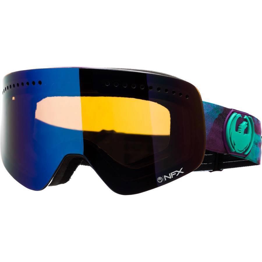 New Dragon NFX Snow Goggles Watercolor bluee Steel + Yellow bluee Bonus