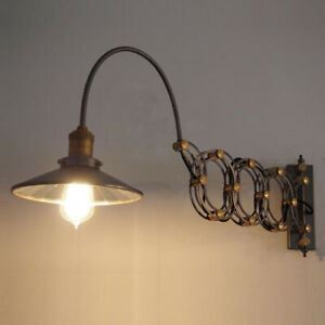 Industrial Wall Sconce Light Lamp Extension Scissor Arm