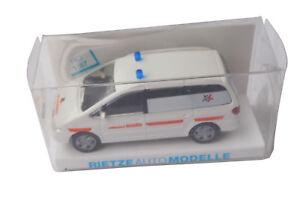 Rietze-1-87-SEAT-ALHAMBRA-4-cm-Godrie-Ambulance-Van-modele-50810-NEUF