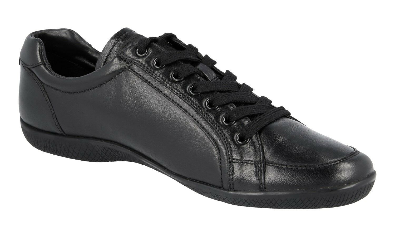 AUTHENTIC LUXURY PRADA SNEAKERS SHOES 3E5620 BLACK BLACK BLACK NEW US 10 EU 40 40,5 UK 7 c59bd3