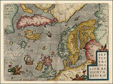 Scandanavia Europa del norte de Suecia Noruega Finlandia reproducción Antiguo Mapa De Color