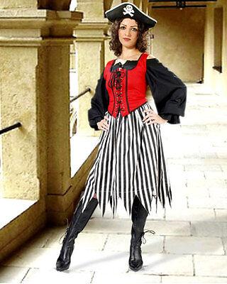 Pirate Skirt Striped Jagged Handkerchief Hem Cotton Sizes S/M - XXL NEW (C1089)