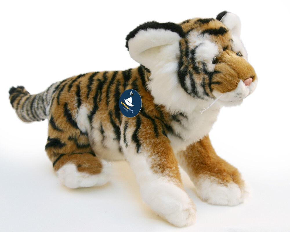 Stofftier Tiger groß, Kuscheltier, Plüschtier, (Länge ohne Schwanz ca. 40 cm)