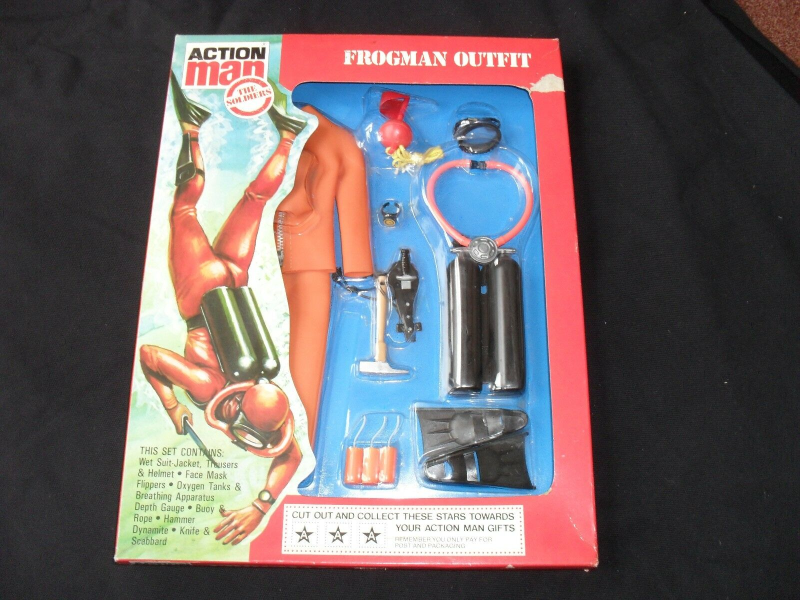 BOXED PALITOY VINTAGE ACTION MAN The Soldiers. Frogman Outfit