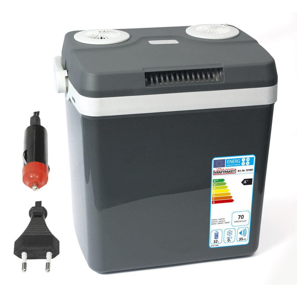 Dino KRAFTPAKET 32L Kühlbox 12V 230V Thermoelektrische Warmhaltebox 131001