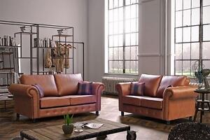 Image Is Loading New Oakland Sofa In Tan Or Black Faux