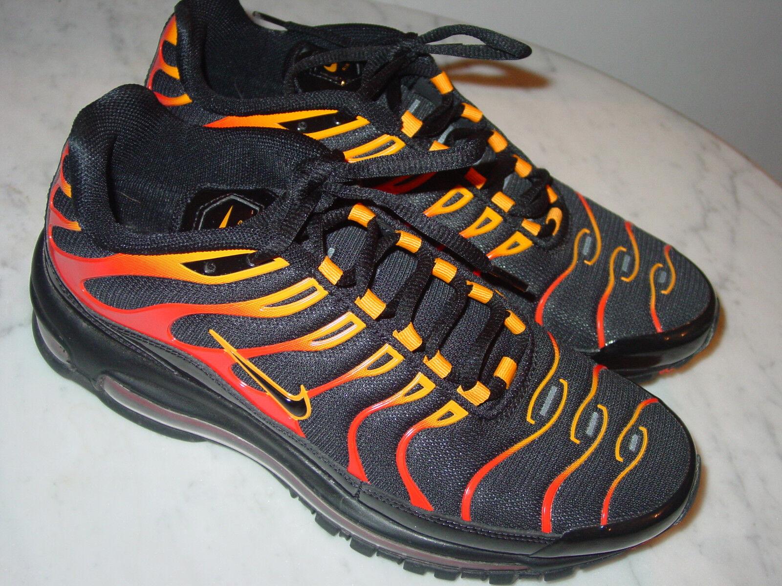 2017 Nike Air Max 97 Plus Engine 1/Shock Orange/Black Running Shoes Size 8