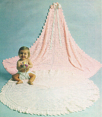 Knitting Pattern- Baby shawls pattern- 2 Knitted shawls on 1 pattern in 3ply