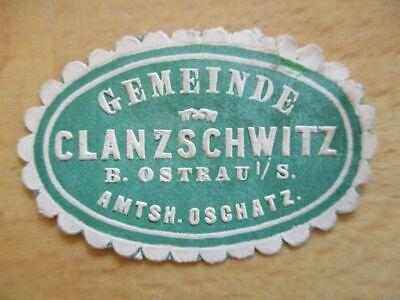 Gemeinde Clanzschwitz B Oschatz In Verschiedenen AusfüHrungen Und Spezifikationen FüR Ihre Auswahl ErhäLtlich Siegelmarke VertrauenswüRdig 21045 Ostrau Amtsh
