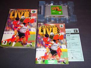 Nintendo-64-JAPAN-Import-N64-JP-Boxed-J-LEAGUE-LIVE-64-Games