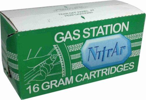 3.2 gram NITROGEN ARGON Blend Cartridges for Gas Tire Inflator Threaded