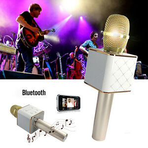 Q7 Q9 Wireless Bluetooth Karaoke Mic Player Speaker KTV Microphone Use For Phone