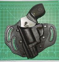 Desantis Intimidator Lh 3 Slot Kydex & Leather Belt Holster For S&w J Frame