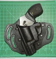 Desantis Intimidator Lh 3 Slot Kydex & Leather Belt Holster For S&w J Frame