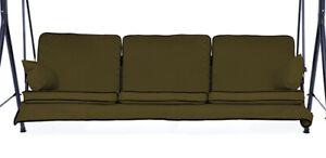 Stable Remplacement Olive 3 Places Swing Seat Hamac Coussins Set De Mobilier De Jardin-afficher Le Titre D'origine