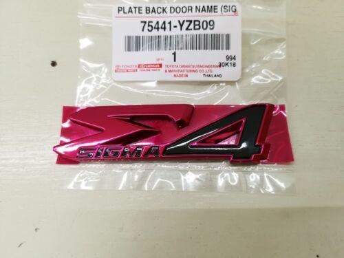 TOYOTA Genuine Parts Original LOGO E Sigma4 FORTUNER Decal Emblem Badge RED