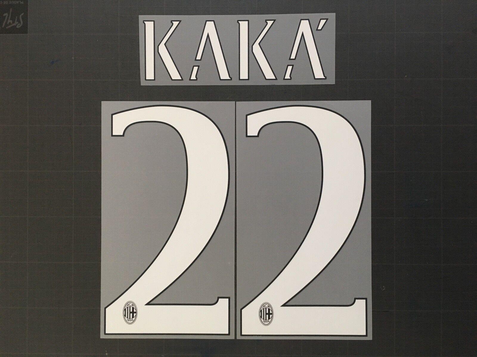 KAKA 22 AC MILAN HOME NAMESET FLOCAGE TRANSFERT STILSCREEN 14-15