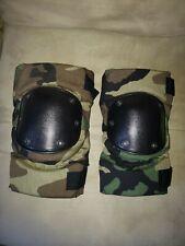 US Military Bijan USMC Tactical Protective KNEE PADS Brown w// Black S-M-L VGC