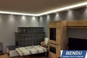 Details zu Indirekte LED Beleuchtung Wand Decke Stuck-Leiste Lichtvouten  Profile Hartschaum