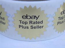 "50 ebay Top Rated Plus Seller bright gold foil 1.5"" starburst label sticker"