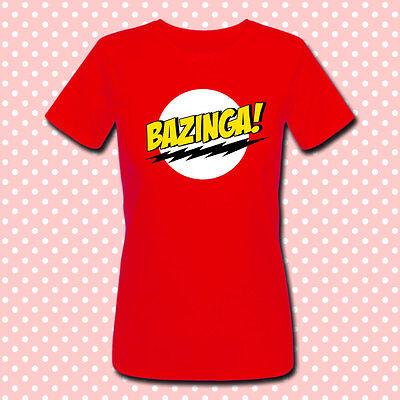 """T-shirt donna """"Bazinga"""" Sheldon Cooper, The Big Bang Theory inspired"""
