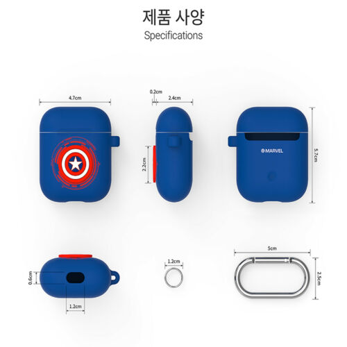 Marvel Airpods Case-Iron Man Protective Siliicon Skin Cover Free Shippin
