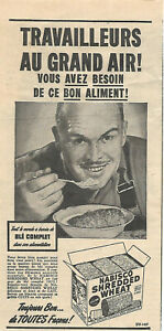 1950 NABISCO SHREDDED WHEAT CEREAL ORIGINAL AD IN FRENCH