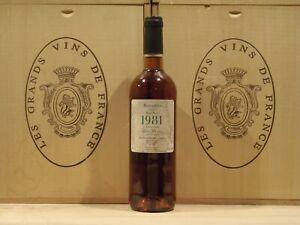 Rivesaltes Ambré 1981 Marc Parcé Languedoc Roussillon vin Doux