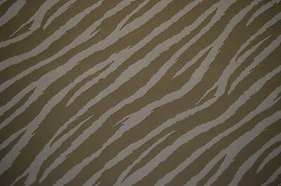BLACK & GREY ZEBRA PUNK ANIMAL PRINT STRETCH COTTON ELASTANE TWILL FABRIC