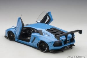 Autoart LB-WORKS LAMBORGHINI AVENTADOR 2015 METALLIC SKY BLUE 1/18 New In Stock!