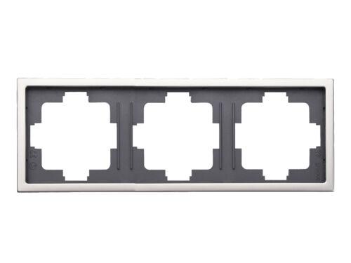 Blende Edelstahl beschichtet für den Innenbereich GAO 3-fach Rahmen