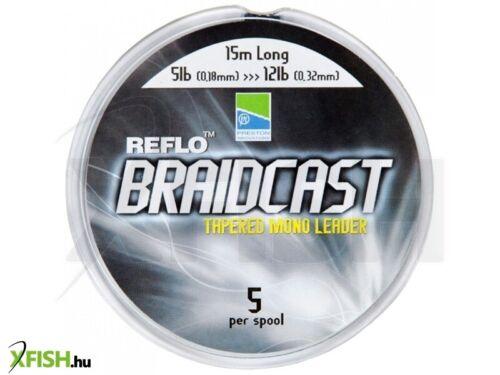 Preston Braidcast Tapered Mono Shockleader Line 5x 15m Long Shock Leader 5-12lb