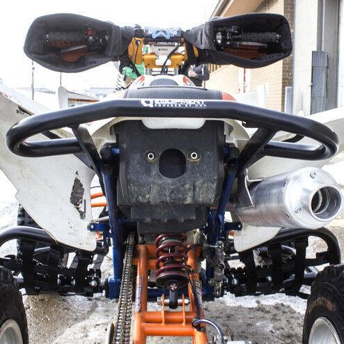 HMF Racing IQ Defender Rear Grab Bar Bumper BLACK Yamaha Raptor 250
