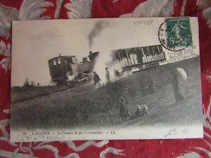 CPA-Langres-52-der-Chemin-De-eisen-Reissverschluss-Zug